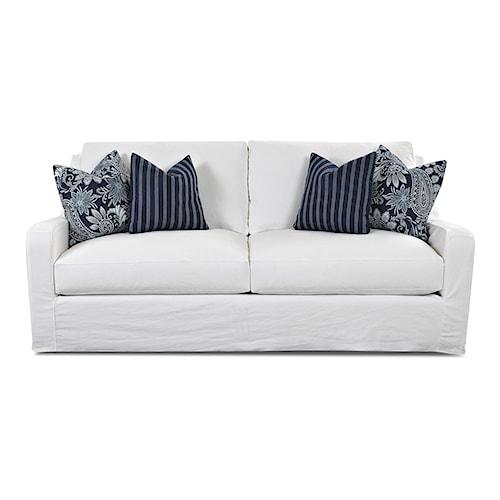 Klaussner Pandora Transitional Sofa With Slipcover