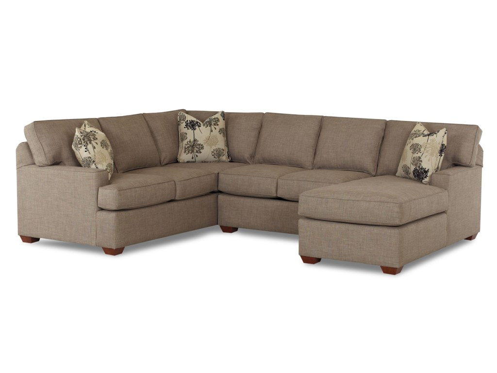 Klaussner Pantego3 Piece Sectional Sofa with RAF Chaise