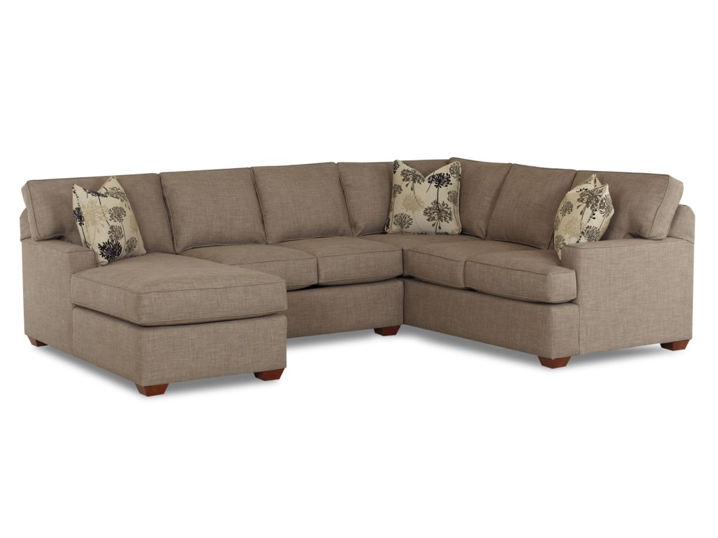 Pantego 3 Piece Sectional Sofa with LAF Chaise by Klaussner at Dunk &  Bright Furniture