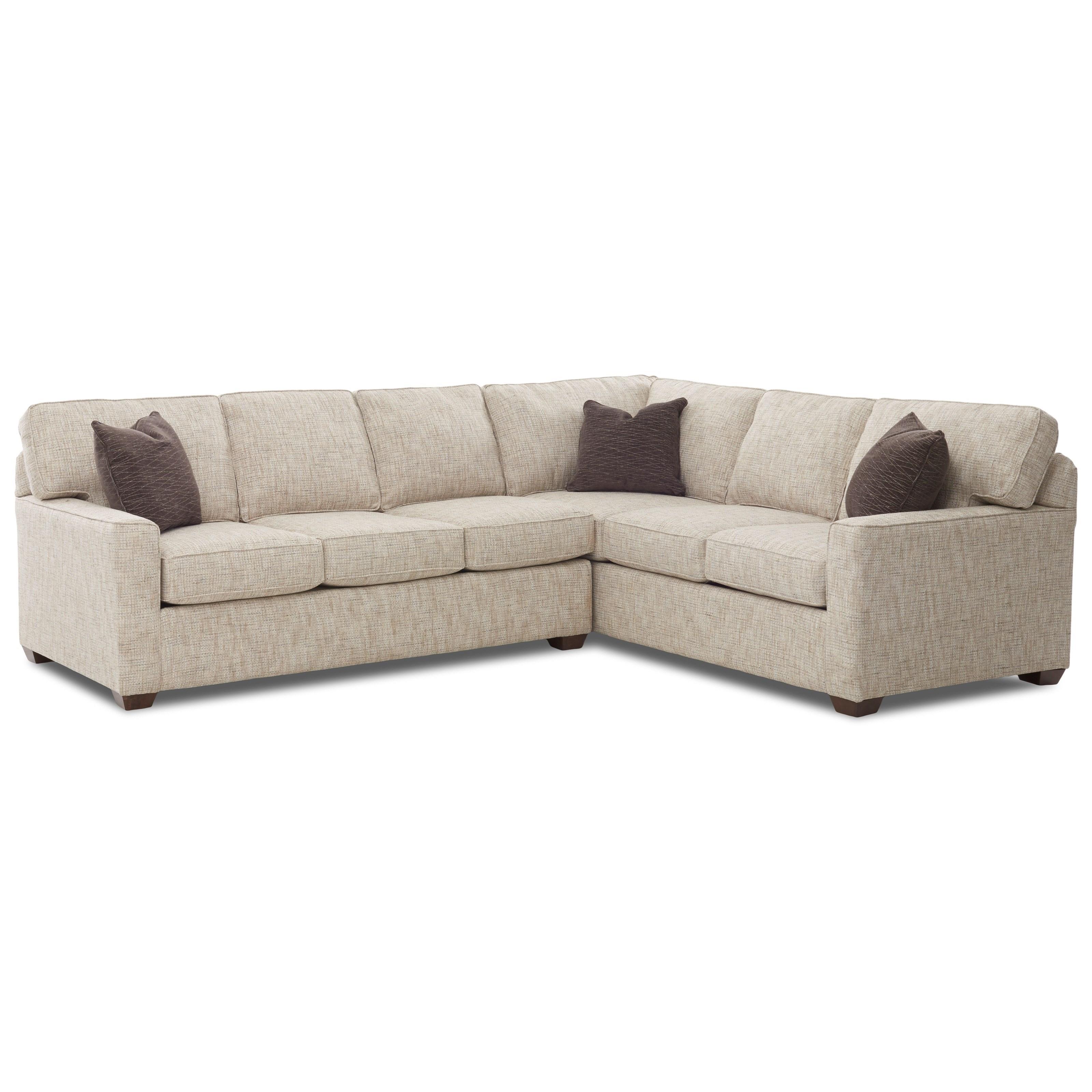 Klaussner Pantego 2 Piece Sectional Sofa With RAF Corner Sofa