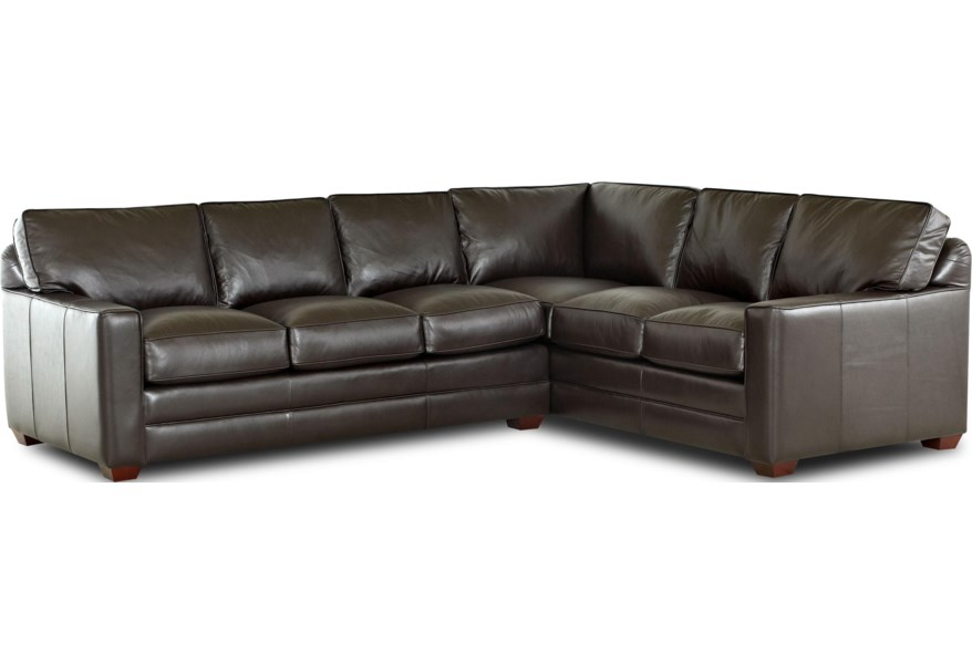 Pantego 2 Piece Sectional Sofa with RAF Corner Sofa by Klaussner at Dunk &  Bright Furniture