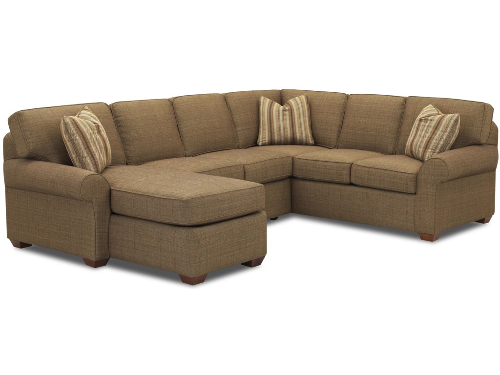 Klaussner Patterns Sectional Sofa Group with Left Chaise Lounge ...