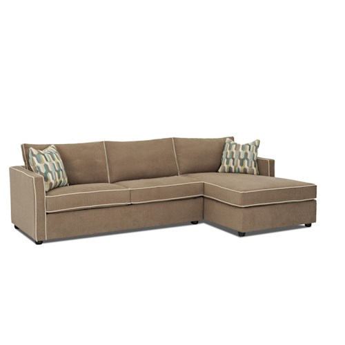 Klaussner Pendry Contemporary Sectional Sofa with Chaise