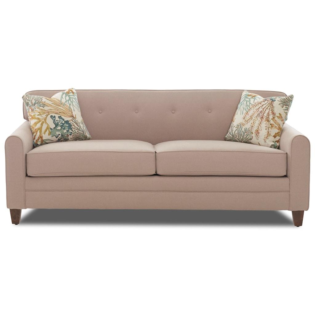 Elliston Place Peyton Mid Century Modern Sleeper Sofa With Enso