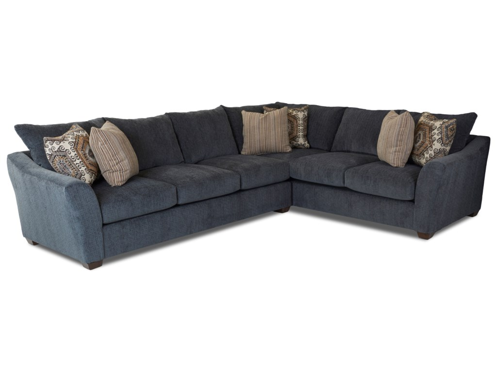 Pinecrest Two Piece Sectional Sofa With Right Corner By Klaussner At Dream Home Interiors