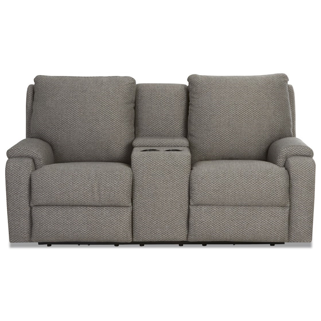 Casual Power Reclining Console Loveseat with USB Charging Ports