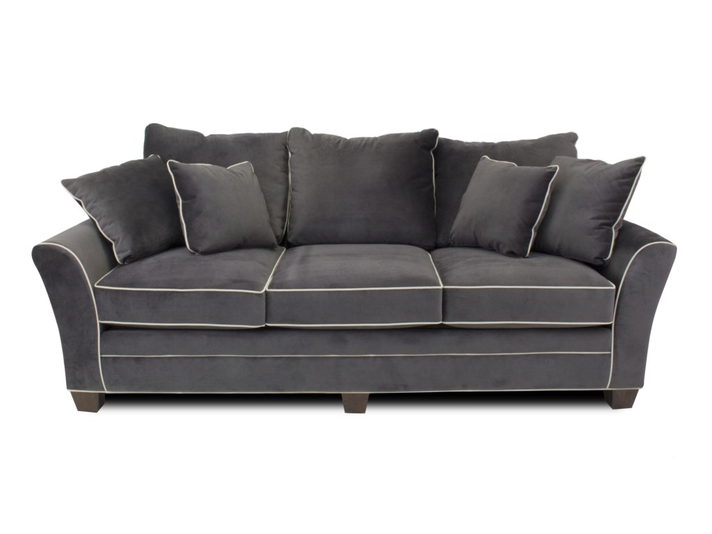 Metropia Parker Contemporary Sofa with Block Feet | Ruby Gordon Home ...