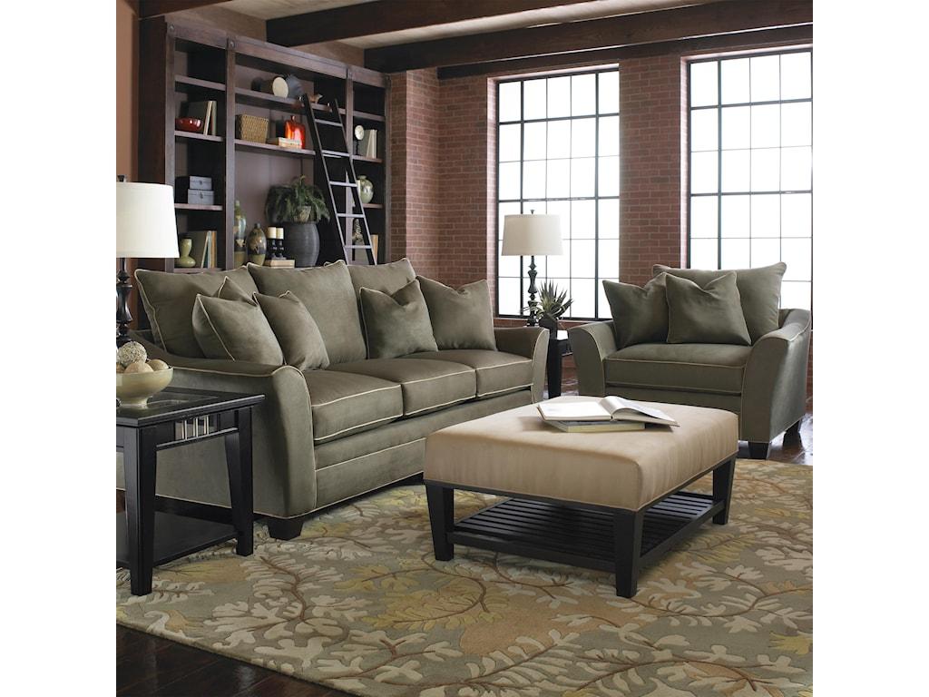 Klaussner PosenStationary Contemporary Sofa