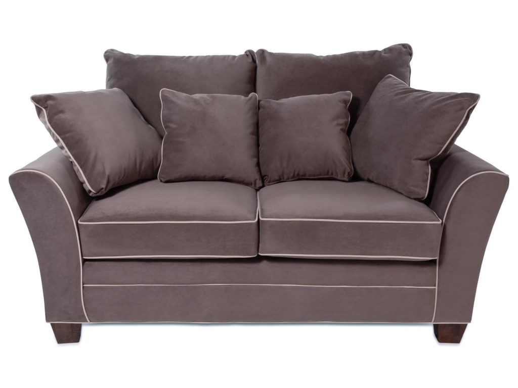Encore Contemporary Loveseat with Contrasting Welt Cords | Rotmans ...