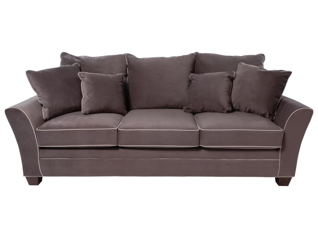 Encore Contemporary Sofa with Block Feet by Simple Elegance at Rotmans