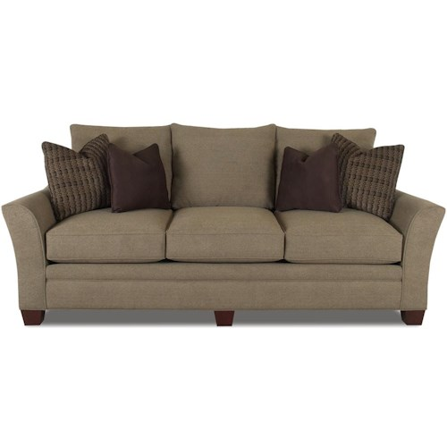 Jcpenney Furniture Outlet Ohio: Klaussner Posen 83844 S Stationary Contemporary Sofa