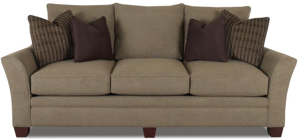 Klaussner Posen Contemporary Sofa with Block Feet