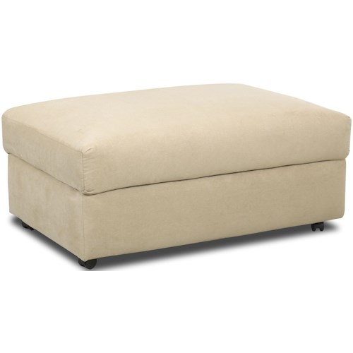 Klaussner Possibilities Storage Ottoman With Wheels