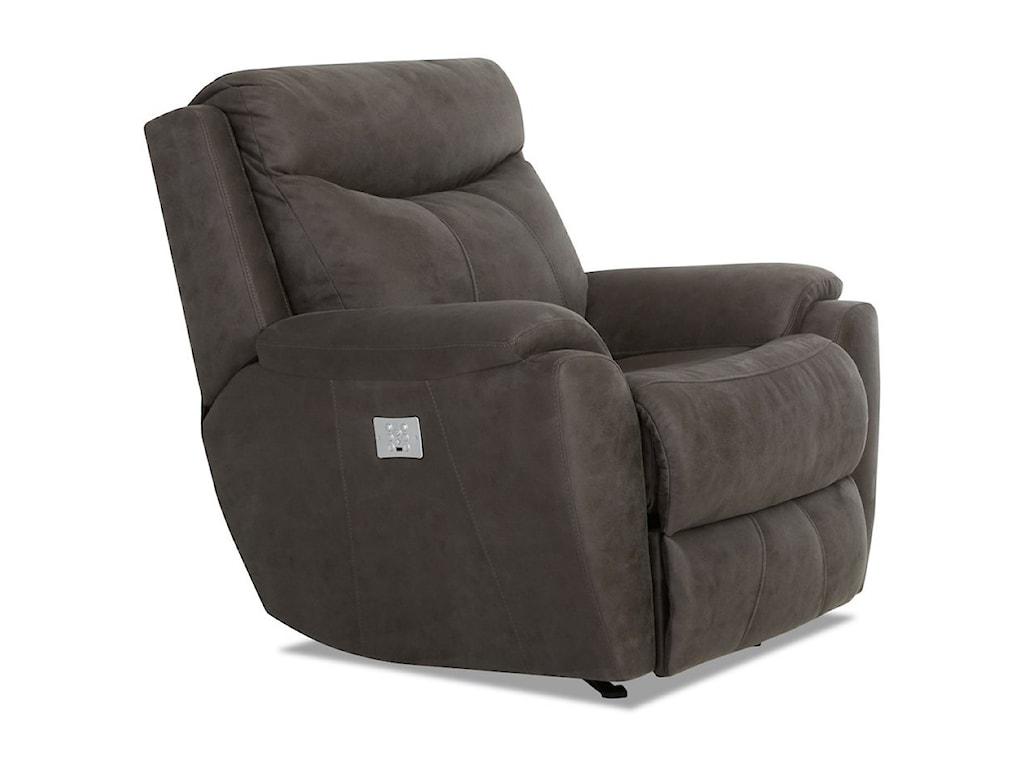 Klaussner ProximoPower Reclining Chair w/ Pwr Headrest/Lumbar