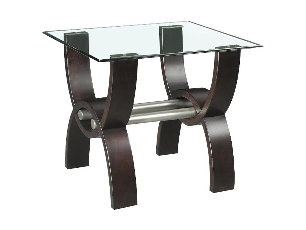 Klaussner International QuantamGlass Top End Table