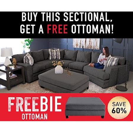 Rayner Sectional Sofa with Freebie!