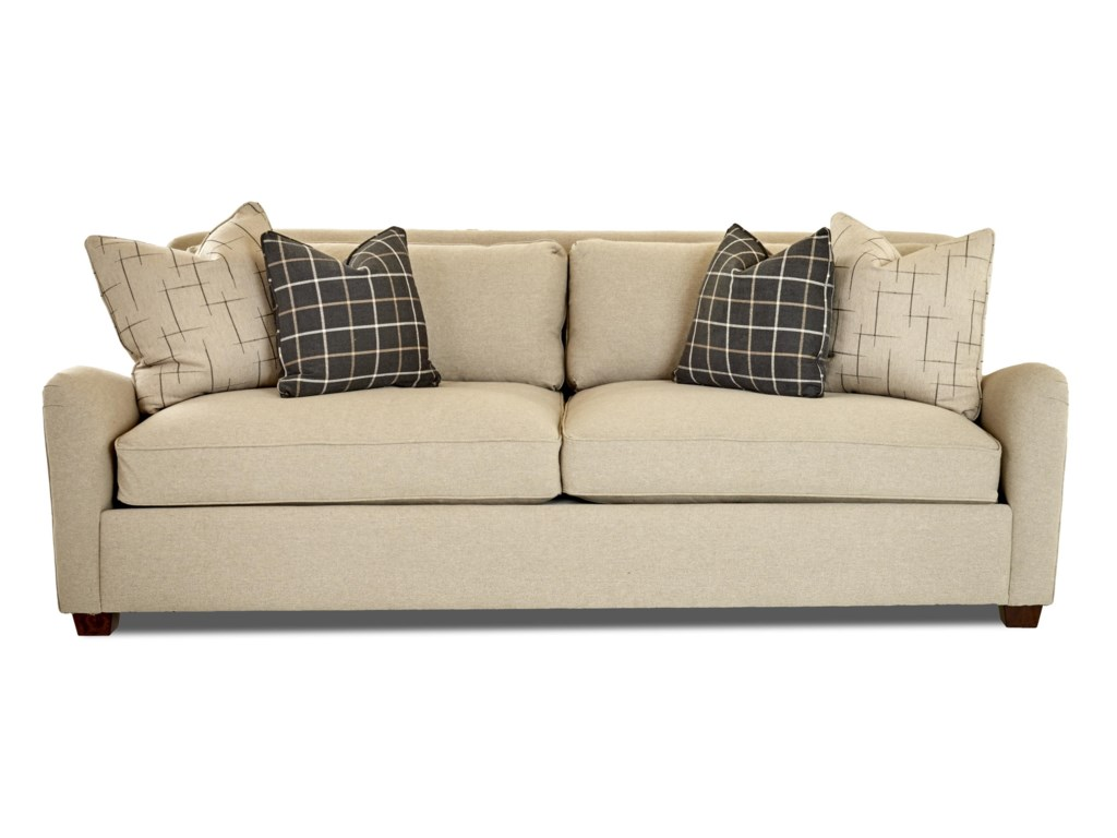 Reflection Distinctions By Klaussner Casual Sofa With Down Blend Cushions At Royal Furniture