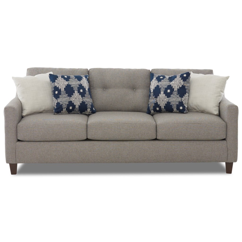 Elliston Place Reggie Contemporary Sofa With Loose Tufted Back
