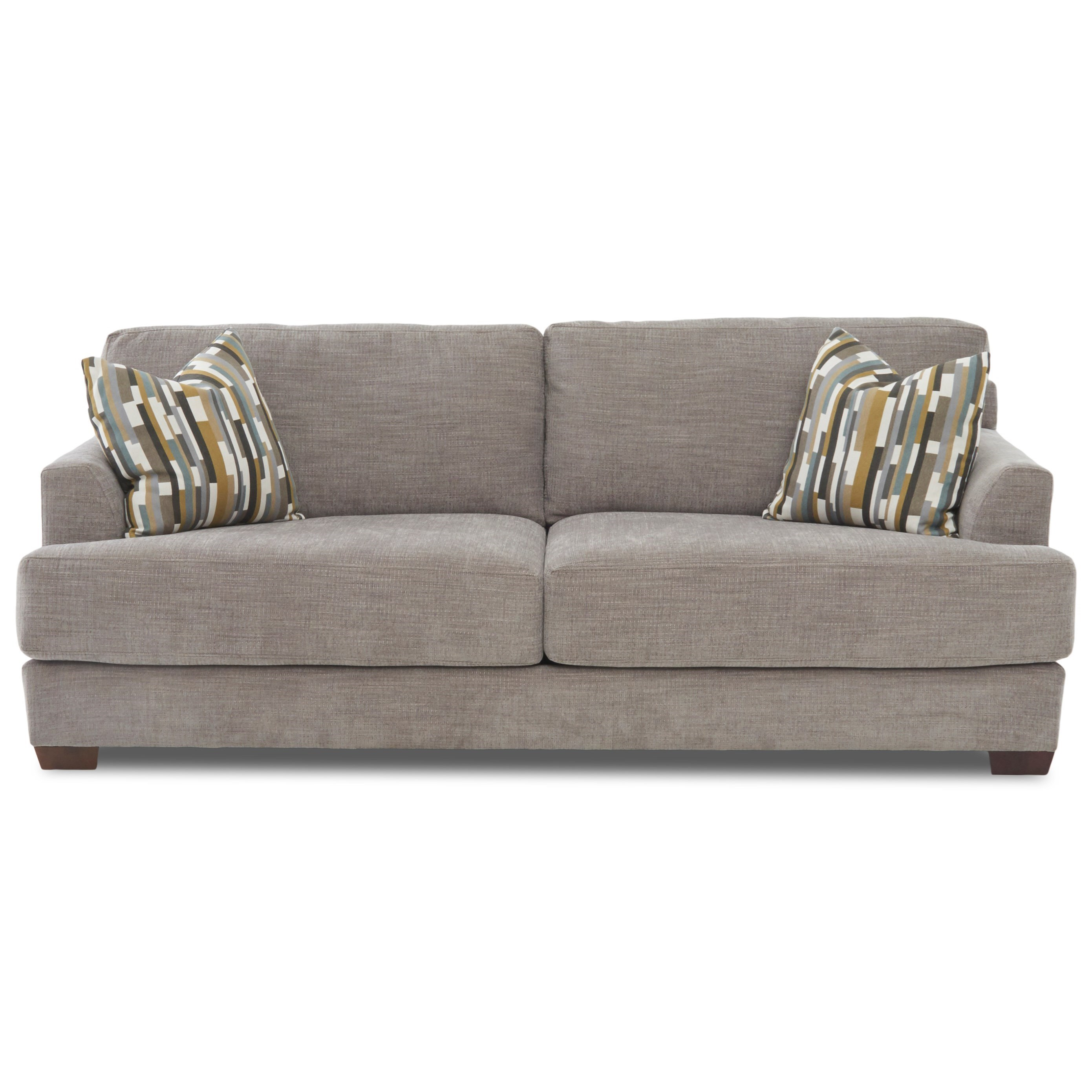 klaussner remi two cushion sofa with deep seats value city rh valuecitynj com