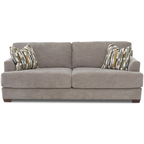 Klaussner Remi Two Cushion Sofa With Deep Seats