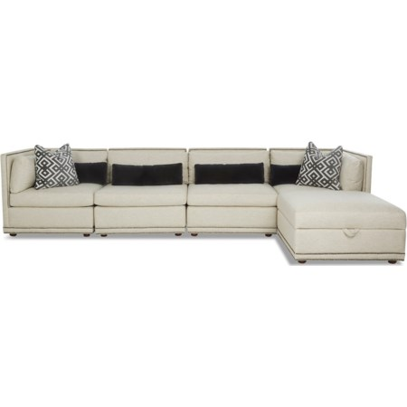 5-Seat Sectional Chaise Sofa