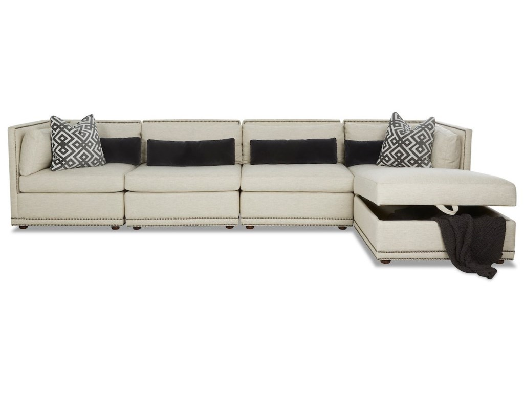 Klaussner Rexford5-Seat Sectional Chaise Sofa
