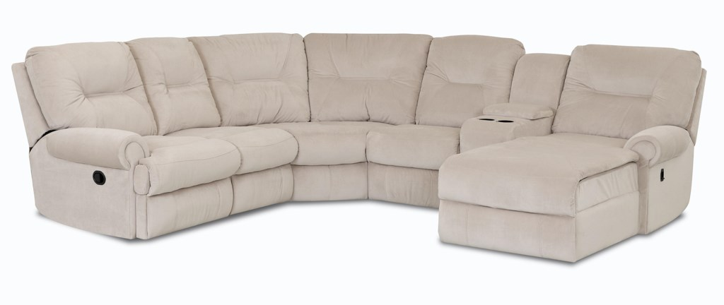 Klaussner Roadster Traditional Reclining Sectional Sofa Sheely S  ~ Traditional Reclining Sofa