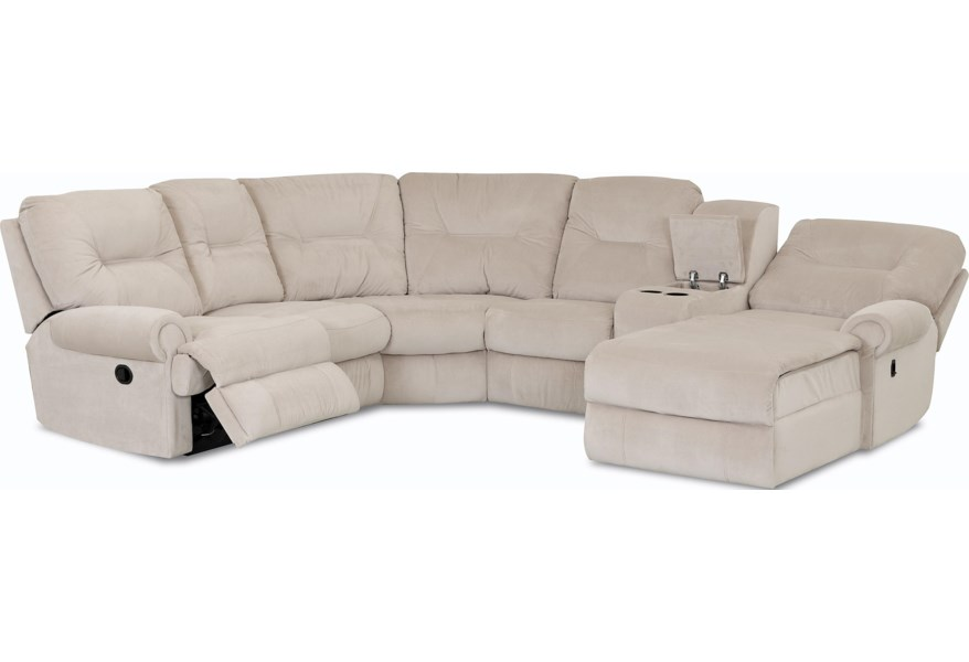 Roadster Traditional Reclining Sectional Sofa by Klaussner at Dunk & Bright  Furniture