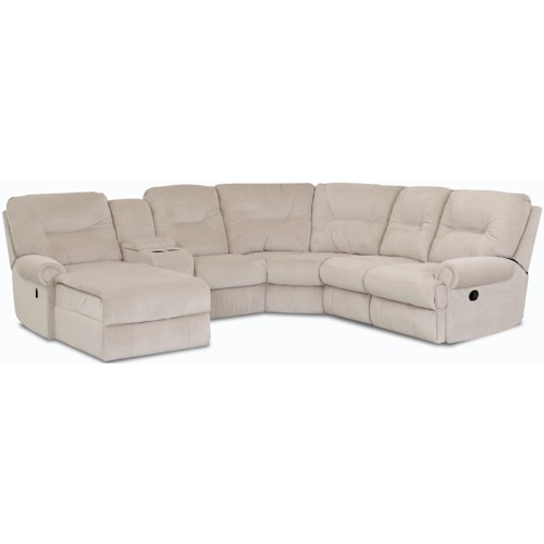 Klaussner Roadster Traditional Reclining Sectional Sofa