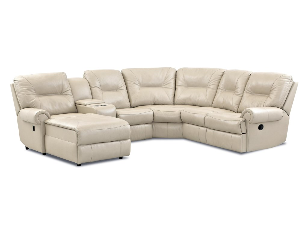 Klaussner RoadsterTraditional Reclining Sectional Sofa