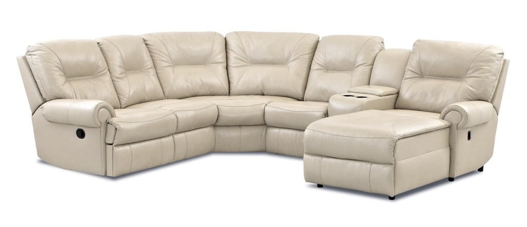 Klaussner Roadster Traditional Reclining Sectional Sofa Dunk  ~ Traditional Reclining Sofa