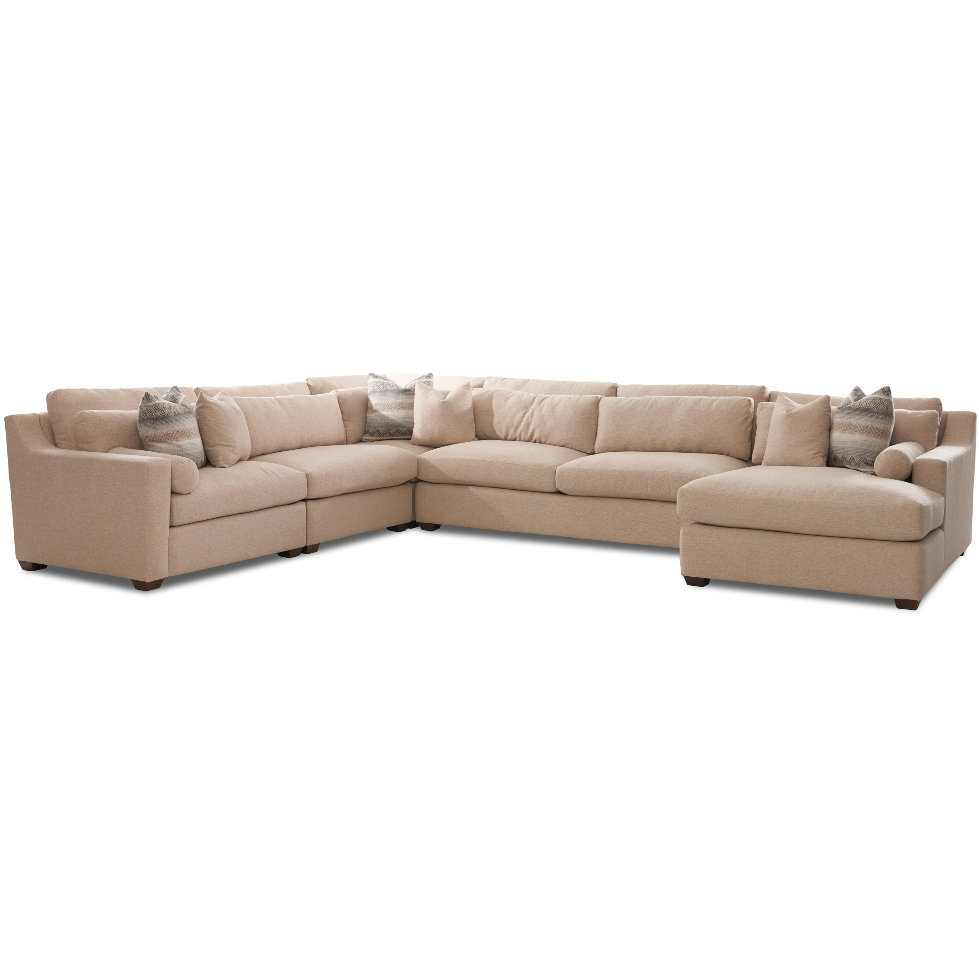 Klaussner Roan Contemporary Sofa Sectional With Right Facing Chaise Lounge Wayside Furniture Sectional Sofas