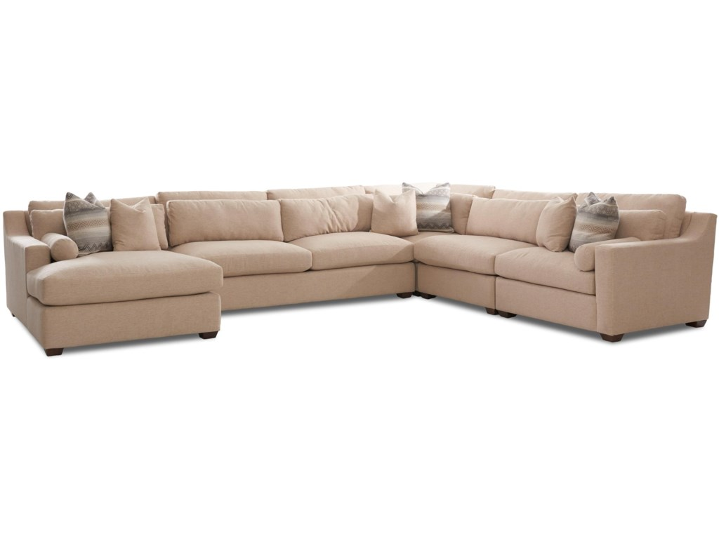 Klaussner Roan Contemporary Sofa Sectional with Left Facing ...