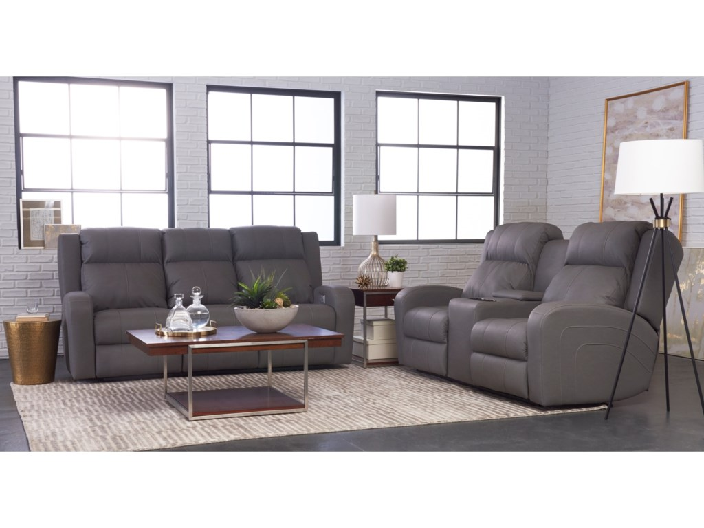 Klaussner RobinsonPower Reclining Loveseat w/ Console