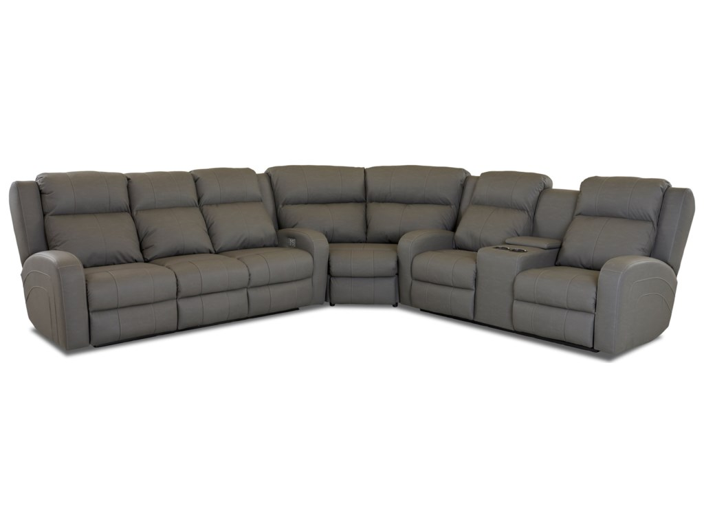 Klaussner Robinson3 Pc Reclining Sectional Sofa