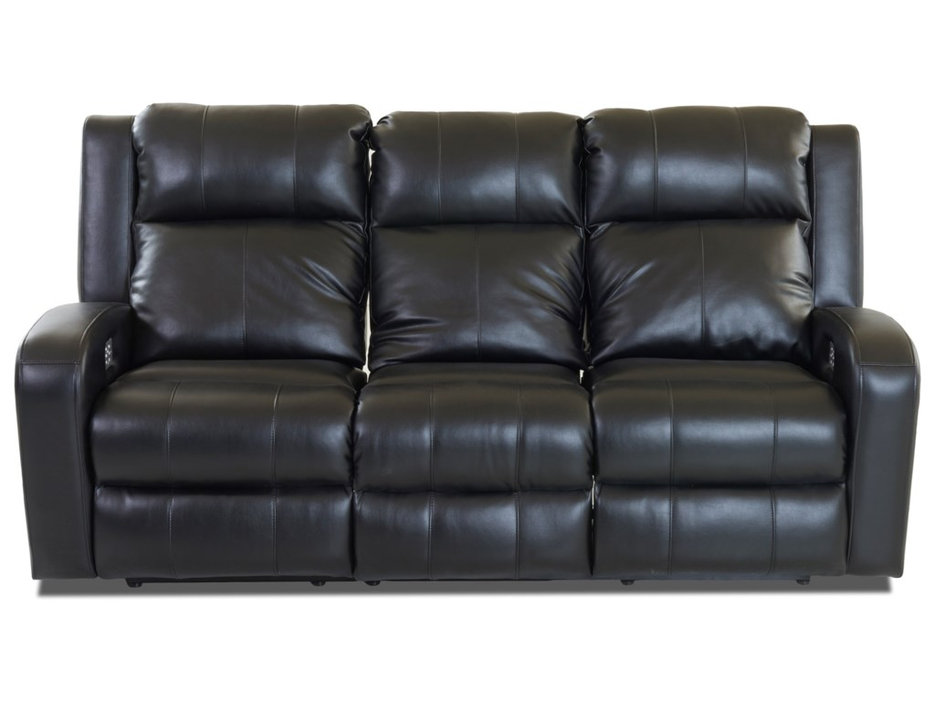 Klaussner RobinsonPower Reclining Sofa w/ Pwr Head & Lumbar