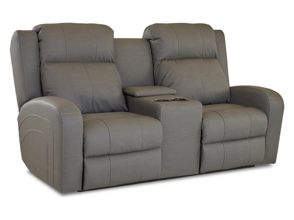 Klaussner RobinsonPower Recl Loveseat w/ Console & Pwr Head