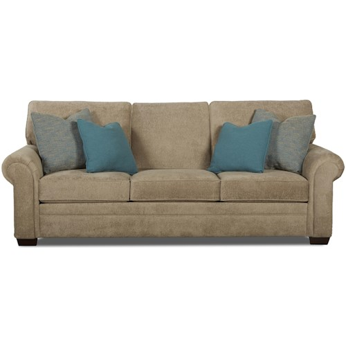 Klaussner Ronaldo Traditional Queen Inner Spring Sleeper Sofa