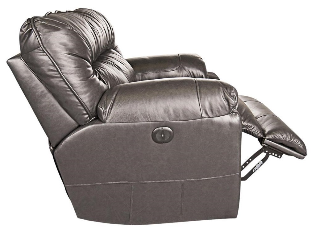Klaussner Ronna Ronna Leather-Match Power Big Chair
