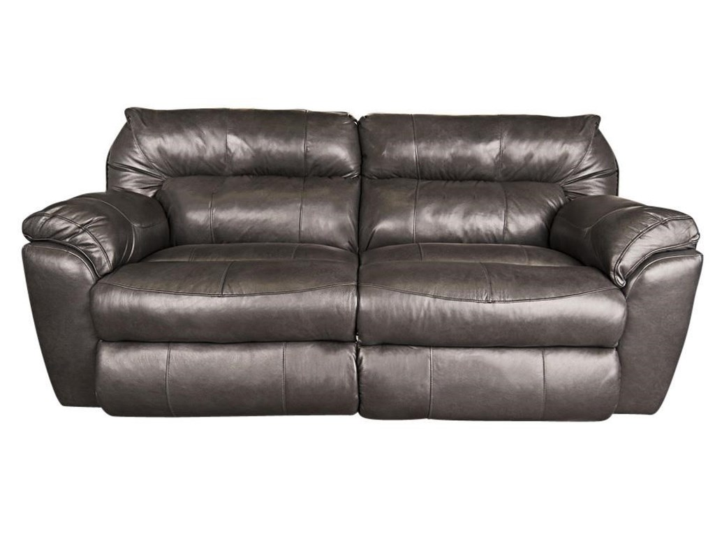 Klaussner Ronna Leather Match Power Reclining Sofa | Morris Home ...