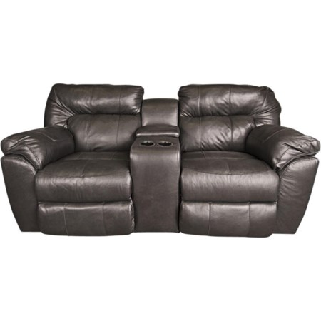 Ronna Leather Match Power Loveseat