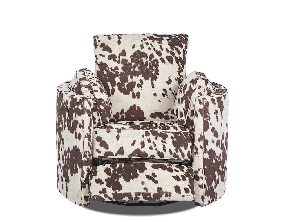 Klaussner RyderTransitional Reclining Swivel Chair