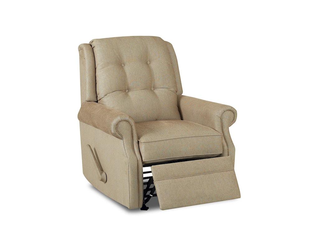 Klaussner Sand KeyManual Swivel Gliding Reclining Chair