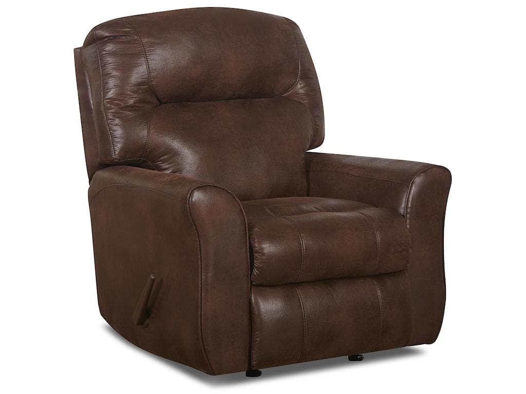 Klaussner SchwartzReclining Rocking Chair in Bonded Leather
