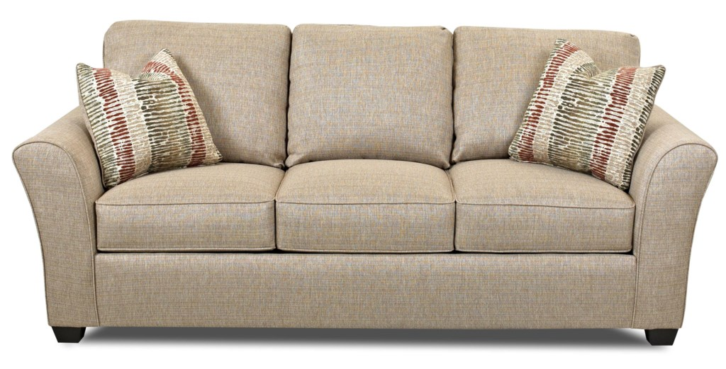 Klaussner Sedgewick Transitional Sofa With Flared Arms Olinde S  ~ What Is A Transitional Sofa