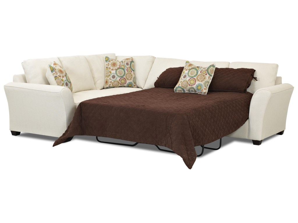 Klaussner SedgewickTransitional 2 Piece Sectional Sleeper Sofa