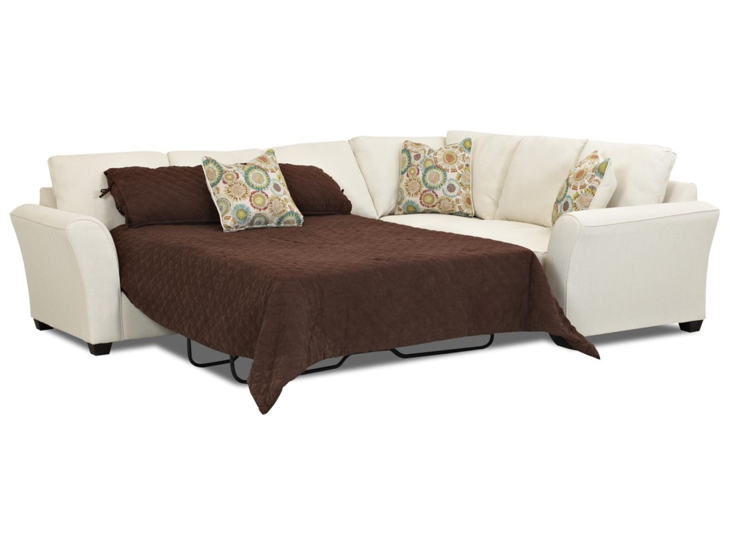 Klaussner SedgewickTransitional Sectional Sleeper Sofa
