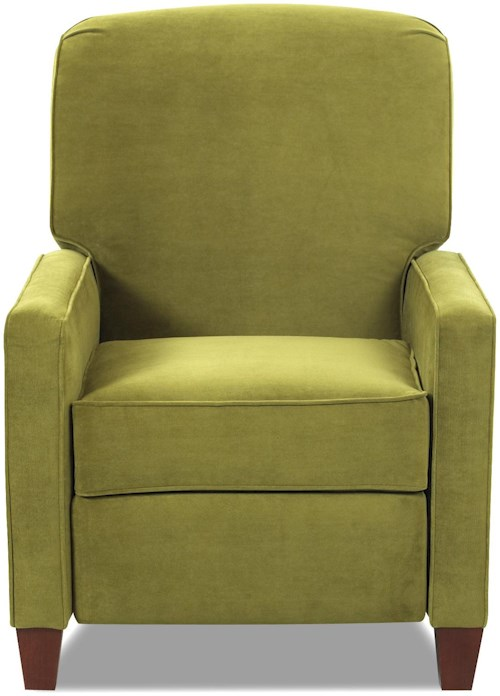 Klaussner Selection High Leg Contemporary Recliner