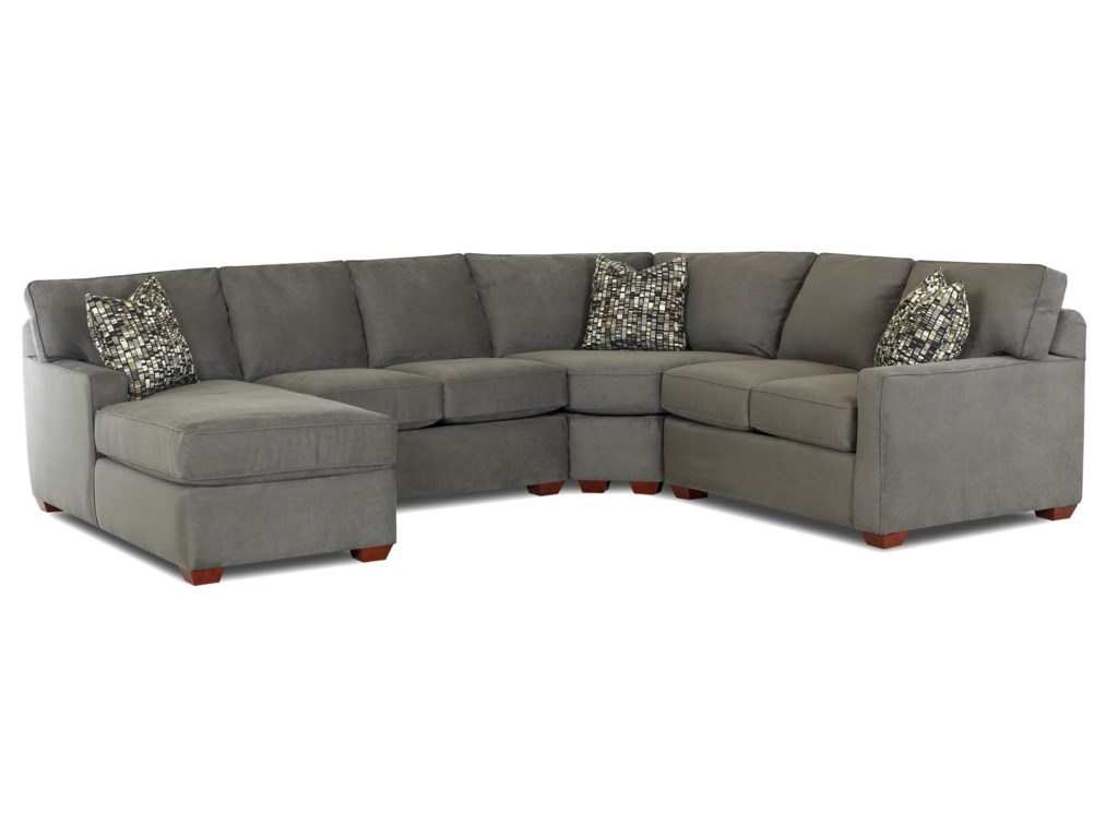 Klaussner Selection Contemporary L-Shaped Sectional Sofa with Left ...