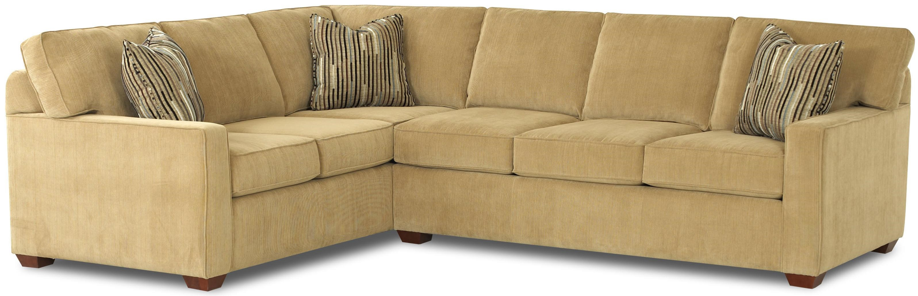 Klaussner Selection L-Shaped Contemporary Sectional  sc 1 st  Pilgrim Furniture City : klaussner sectional sofa - Sectionals, Sofas & Couches